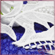 Guipure embroidery lace fabric