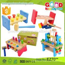 2016 nuevo diseño niños juguete de madera educativo conjunto de juguete de juguete de los niños del banco de golpear directamente desde China