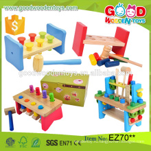 2016 Новый дизайн детей образовательных деревянный инструмент игрушка набор Pounding скамьи детей игрушек прямо из Китая