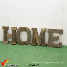 Decoración casera de madera antigua letras colgantes de la pared