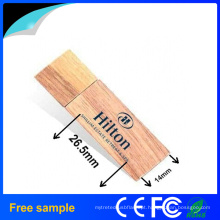 Personalizar logotipo de impressão de madeira USB Flash Drive
