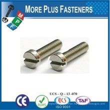 Made in Taiwan DIN 84 Screw Cheese Head DIN 84 With Cylindrical Head DIN 84 Slotted Cheese Head Screw DIN 84