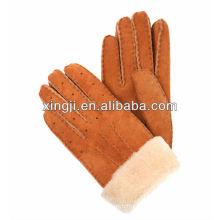 véritable gant de fourrure de mouton pour l'hiver