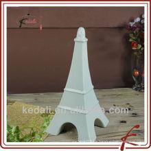 Decoración de casa de cerámica blanca torre eiffel