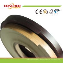 Bandas de borde del PVC del color del alto brillo o de madera del grano para el tablero