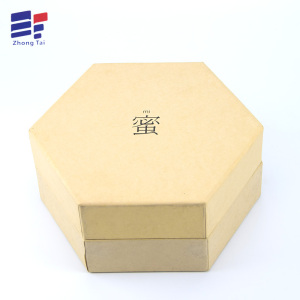 Customized for Cover And Tray Electronics Carton Kraft paper hexagonal gift box supply to Poland Importers