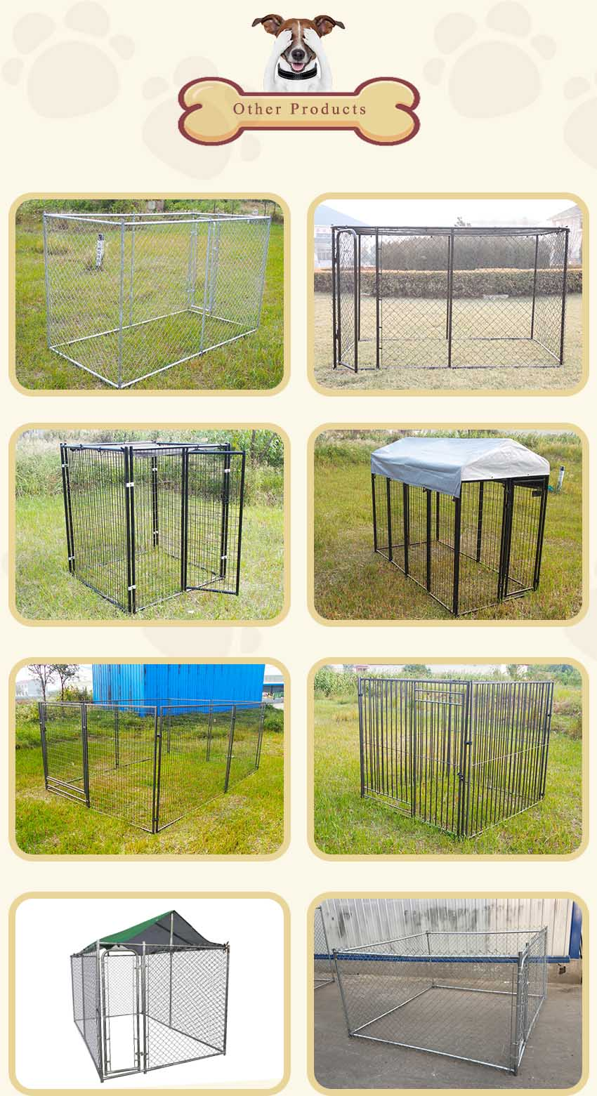 chain link dog kennel&welded dog kennel-1