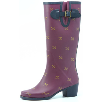 Purple Key Printing Wellington Rubber Boots