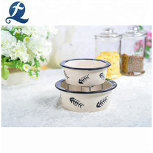 Customized Decal Printing Pet Products Feeder Ceramic Dog Bowls