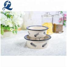 Bacias cerâmicas personalizadas do cão do alimentador personalizado dos produtos para animais de estimação da impressão do decalque