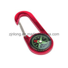Aluminum Alloy Carabiner with Compass