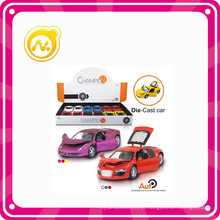 Scale 1: 32 Die Cast com Openable Door & Luz & Sound Pull Back Toy Car
