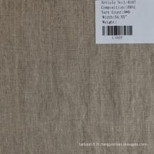 Le tissu de lin pur L-0107