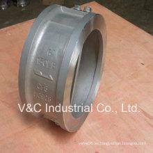 Válvula de retención de oblea de acero inoxidable