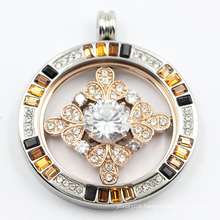 Magnet Style Side Open Surgical Stainless Steel Locket Pendant for Gift
