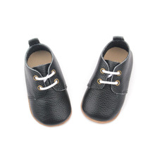Oxford Boys Shoes Svart läder Skor Baby Footwear