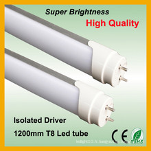 2014 best-seller lait blanc 1,2 m t8 conduit tube léger