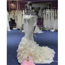 Элегантный одно плечо свадебное платье с рюшами внизу