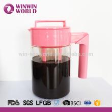 Vente chaude adapté aux besoins du client 900ml BPA Tritan gratuit 1 pin froid Brew cafetière glacé