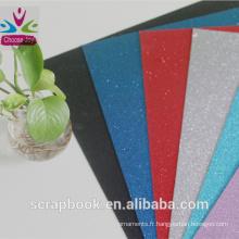Papier cartonné de paillettes de couleur 2016 nouveau paillettes papier cartonné papier haute qualité