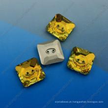 Botões quadrados fantasia com dois buracos