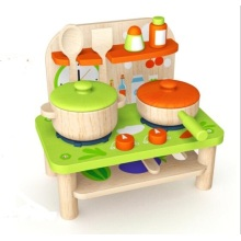 New Fashion Cute Wooden Doll Kitchen Toy for Kids and Children