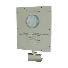 Nouveau 8W tout dans un éclairage extérieur compact actionné solaire de rue de LED avec le capteur