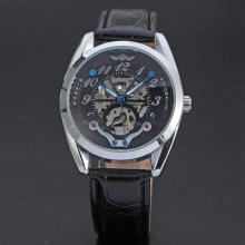 winner multi function watch with small diamond dial