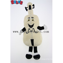 Beige Custom Plush Violin Mascot with Smile Face Toys Bos1126