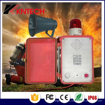 Teléfono de intercomunicación del túnel IP66 Teléfono de emergencia resistente a la intemperie con el altavoz