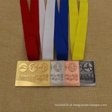 Medalha de Triathlon de Prêmio de Esporte de Metal Personalizado para o Concurso de Triathlon