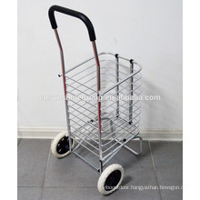 Factory price supermarket hand trolley/Lightweight Aluminum Two Wheels cheap luggage trolley