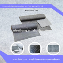 Tissu de fibre de carbone en tissu de carbone activé par chauffage au sol