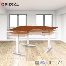 Großhandelsbüromöbel elektrischer höhenverstellbarer Schreibtisch-Rahmen mit 3 Motoren der Stufe 3