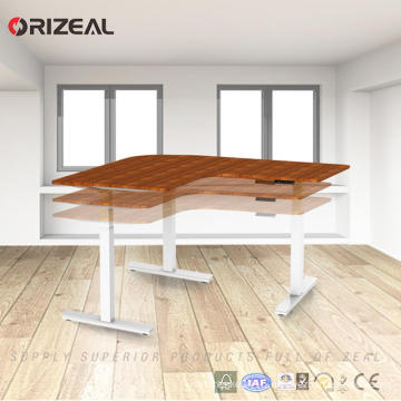 wholesale office furniture Electric Height Adjustable Desk Frame with 3 stage 3 motors