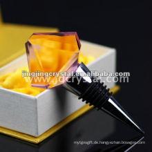 Kristallglas-Diamant-Rahmen-Wein-Stopper