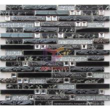 Black Metal Mosaic Tiles (CFM878)