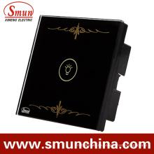 1 Schlüssel Schwarz Lampe Touch-Schalter für die Wand, Home Smart Remote Control Switches