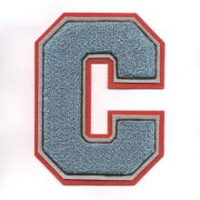 Soft Chenille Letter Patch for Varsity Clothing