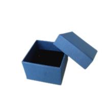 Caixa de anel de jóias de papel de espuma azul escuro (PB-RB1)