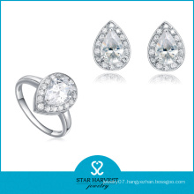 Anniversary and Wedding Occasion Fashion Wholesale Diamond Jewelry Set (J-0111)