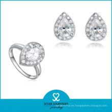 Aniversario y ocasión de la boda al por mayor conjunto de joyas de diamantes de moda (J-0111)