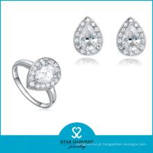Aniversário e Casamentos Ocasião Moda Atacado Diamante Jóias Set (J-0111)
