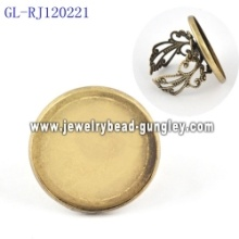 23mm copper jewelry findings ring bases