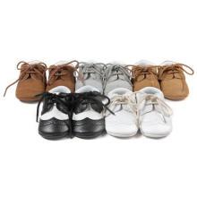 Newborn0-1 anos bebê criança sapatos anti-derrapante mocassins infantil