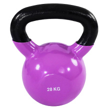 28KG Purple Vinyl Coated Kettlebell