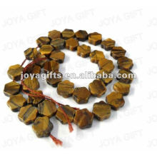 Tigereye gemstone star Beads