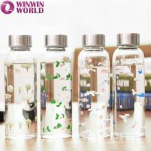 Heat-resistant Clear Sport Glass Bottle Water