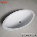 Bacia de pedra artificial moderna do banheiro do dissipador da resina