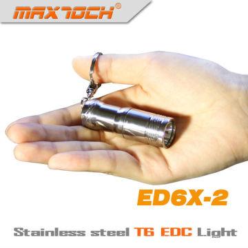 Maxtoch ED6X-2 EDC Cree T6 Stainless Steel Mini LED Keychain Flashlight